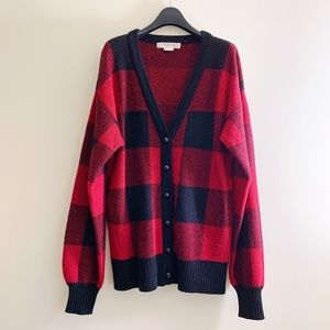 ALEXANDER WANG Buffalo Plaid Cashmere Cardigan - M